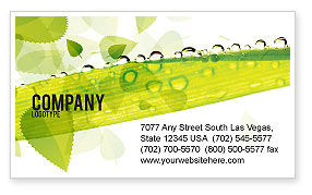 Nature & Environment: Dew Business Card Template #04872