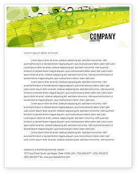 Nature & Environment: Dew Letterhead Template #04872