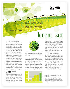 Dew Newsletter Template, 04872, Nature & Environment — PoweredTemplate.com