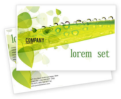 Nature & Environment: Dew Postcard Template #04872
