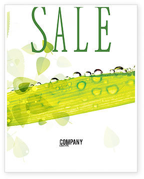 Dew Sale Poster Template, 04872, Nature & Environment — PoweredTemplate.com