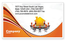 Building Project Conference Business Card Template, 04874, Consulting — PoweredTemplate.com