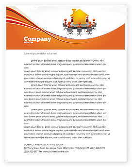 Consulting: Building Project Conference Letterhead Template #04874