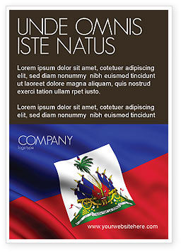 Flags/International: Haïti Advertentie Template #04875