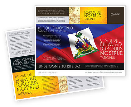 Haiti Brochure Template, 04875, Flags/International — PoweredTemplate.com