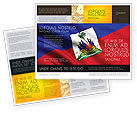 Flags/International: Haiti Brochure Template #04875