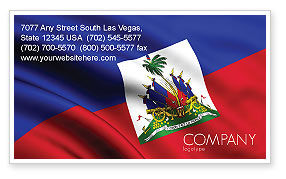 Flags/International: Haiti Business Card Template #04875