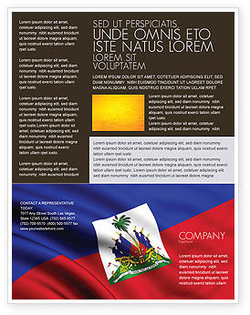 Flags/International: Haiti Flyer Template #04875