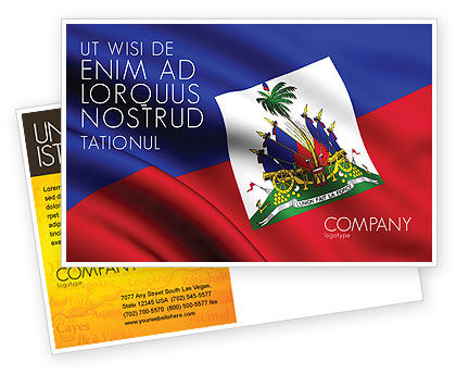 Flags/International: Modello Cartolina - Haiti #04875