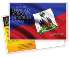 Flags/International: Haiti Postcard Template #04875