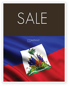Haiti Sale Poster Template, 04875, Flags/International — PoweredTemplate.com