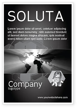 Global: Wereld Licht Advertentie Template #04876
