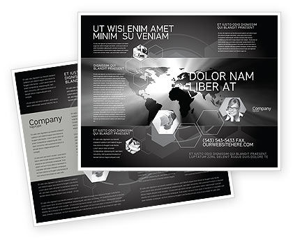 World Light Brochure Template, 04876, Global — PoweredTemplate.com