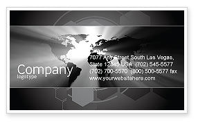 World Light Business Card Template, 04876, Global — PoweredTemplate.com