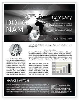 World Light Newsletter Template, 04876, Global — PoweredTemplate.com