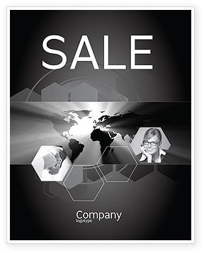 Global: World Light Sale Poster Template #04876