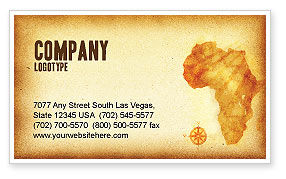 Africa Business Card Template, 04877, Flags/International — PoweredTemplate.com
