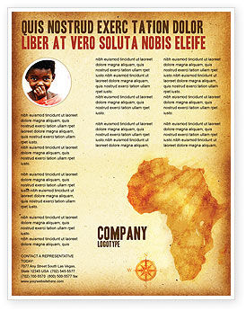Flags/International: Africa Flyer Template #04877
