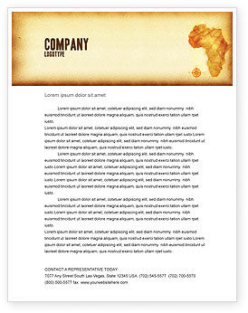 Flags/International: Africa Letterhead Template #04877