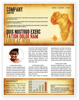 Flags/International: Africa Newsletter Template #04877