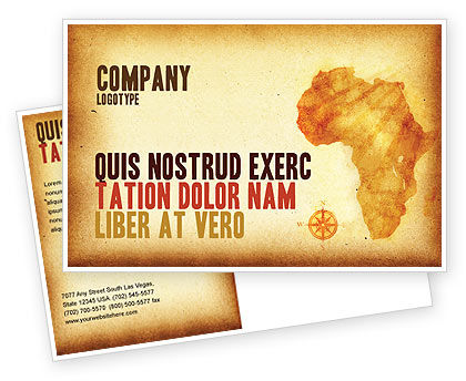 Flags/International: Africa Postcard Template #04877