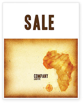 Africa Sale Poster Template, 04877, Flags/International — PoweredTemplate.com