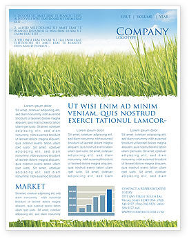 Nature & Environment: Green Grass Under Blue Sky Newsletter Template #04885