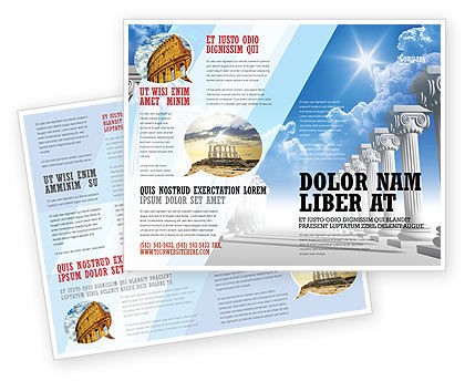 Ionic Columns Brochure Template
