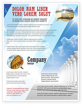 Ionic Columns Flyer Template, 04887, Careers/Industry — PoweredTemplate.com