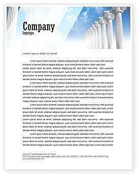 Ionic Columns Letterhead Template, 04887, Careers/Industry — PoweredTemplate.com