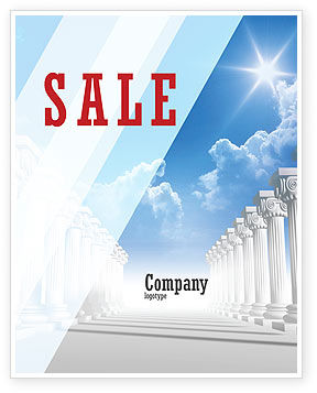 Careers/Industry: Ionic Columns Sale Poster Template #04887