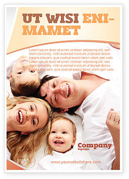 People: Lucky Family Ad Template #04888