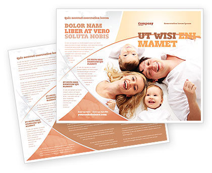 People: Lucky Family Brochure Template #04888