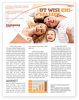 Lucky Family Newsletter Template, 04888, People — PoweredTemplate.com
