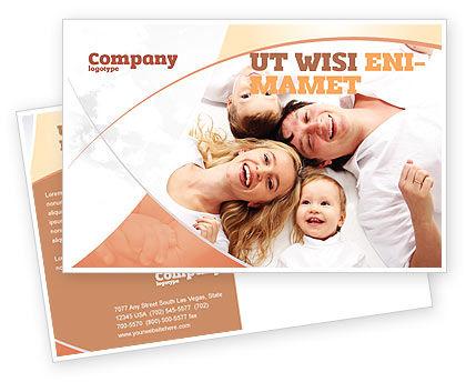 Lucky Family Postcard Template, 04888, People — PoweredTemplate.com