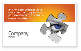 Consulting: Eye Business Card Template #04894