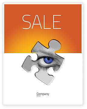 Eye Sale Poster Template, 04894, Consulting — PoweredTemplate.com
