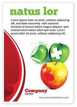 Medical: Vitamine Behandeling Advertentie Template #04895