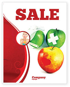 Vitamin Treatment Sale Poster Template, 04895, Medical — PoweredTemplate.com