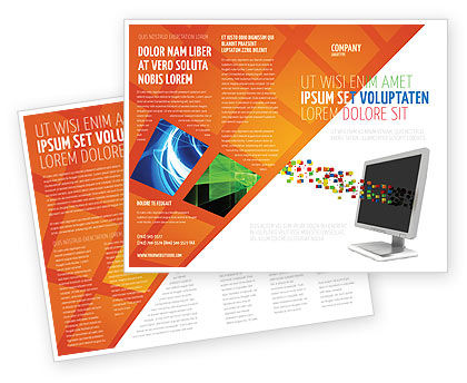 Technology, Science & Computers: Pixels Brochure Template #04898
