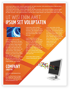 Technology, Science & Computers: Templat Flyer Piksel #04898