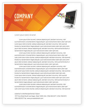 Technology, Science & Computers: Pixels Letterhead Template #04898