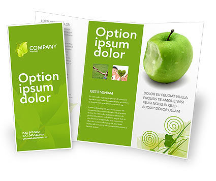 Education & Training: Apple Bite Brochure Template #04900
