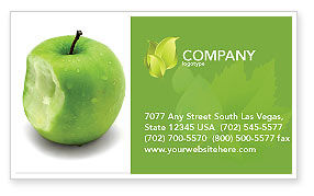 Education & Training: Apple Bite Business Card Template #04900
