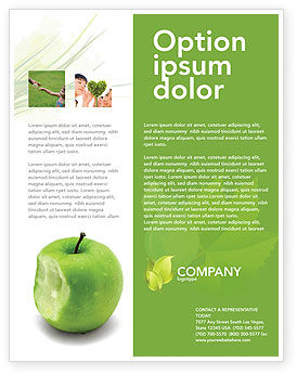 Education & Training: Apple Bite Flyer Template #04900
