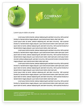 Education & Training: Apple Bite Letterhead Template #04900