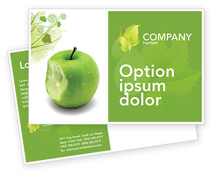 Education & Training: Apple Bite Postcard Template #04900