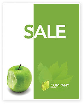 Education & Training: Apple Bite Sale Poster Template #04900