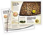 Nature & Environment: Desert Flower Brochure Template #04901