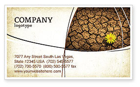 Nature & Environment: Desert Flower Business Card Template #04901